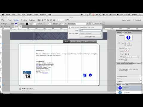 How To Create Buttons and Links in your Adobe Muse Website