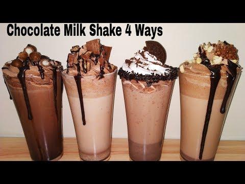 Chocolate Milk Shake 4 Types | ४ तरीके के चॉकलेट मिल्कशेक गर्मियो के लिए।