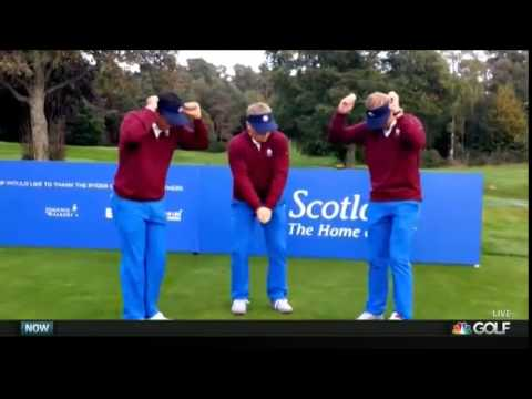 Team USA #JuniorRyderCup Dance on Golf Channel's Morning Drive   9-22-14