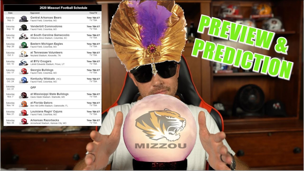 MISSOURI TIGERS 2020 COLLEGE FOOTBALL SEASON PREVIEW & GAME BY GAME PREDICTION