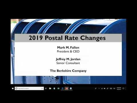 Preparing For The 2019 Postal Rate Increase