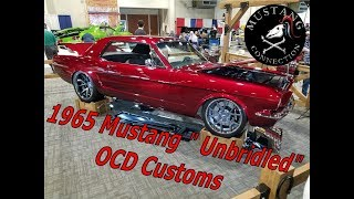 """1965 Mustang """"Unbridled"""" Custom by OCD customs at the Grand National Roadster Show 2018"""