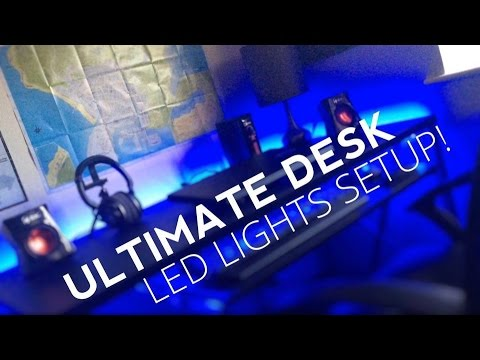 How To Setup Led Light Strip Best Gaming Desk Lighting Setup