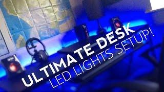 How to Setup LED Light Strip | Best Gaming Desk Lighting Setup!