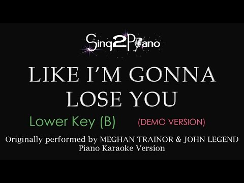 Like I'm Gonna Lose You (Lower Key - Piano karaoke demo)