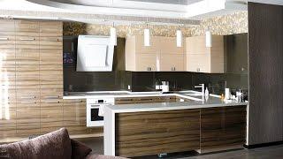 Искусственный камень в столешнице П-обазной формы - кухня студия в Павлограде(Кухня студия в квартиру, которую мы делали
