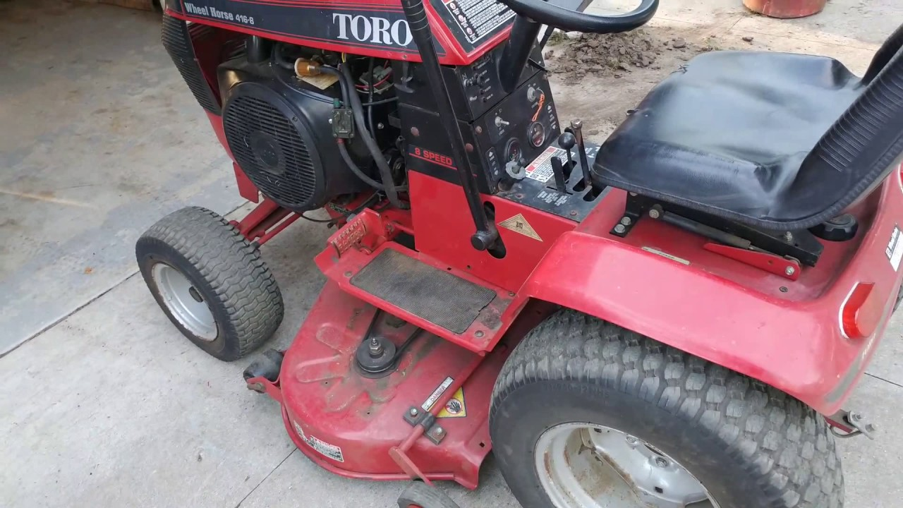 hight resolution of 1994 wheel horse 416 8 with bad ignition module repaired youtube1994 wheel horse 416 8 with