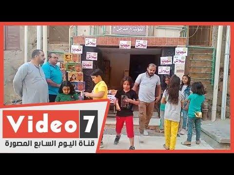 مواطن يوزع الحلوي على الاطفال طوال ايام العيد علي روح ولده  - 19:59-2020 / 5 / 25