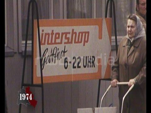Intershops open in GDR 1974