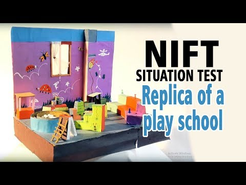 Replica of a play school  (NIFT- SITUATION TEST)