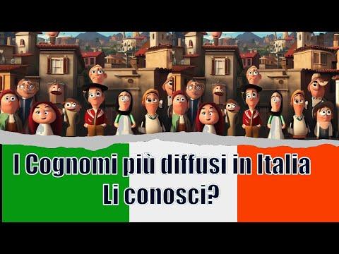 Super Classifica dei12 Cognomi più diffusi in Italia