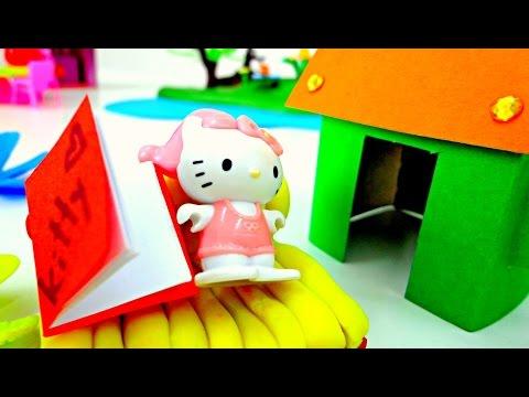Видео для детей: Домик для КИТТИ! Поделки!