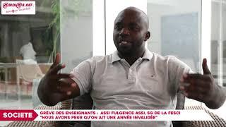 """Grève des enseignants : Assi Fulgence Assi, """"Nous avons peur qu'on ait une année invalidée"""""""
