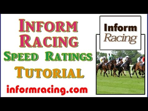Inform Racing Speed Ratings Tutorial