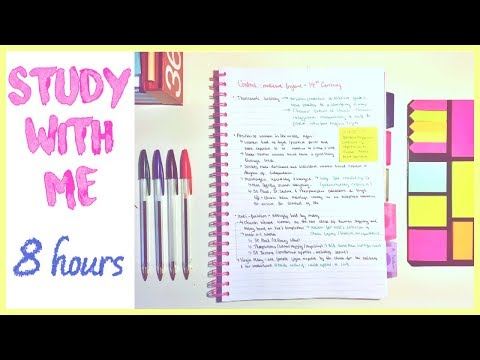 study with me (live) 8 hours! :D