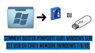 Tuto #12 Créer Une Image Bootable de Windows Sur Clé USB ou Carte Mémoire [Windows 7/8/10]