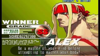 Street Fighter III: 3rd Strike - Fight for the Future (Arcade) - (Longplay - Alex | Hard Difficulty)