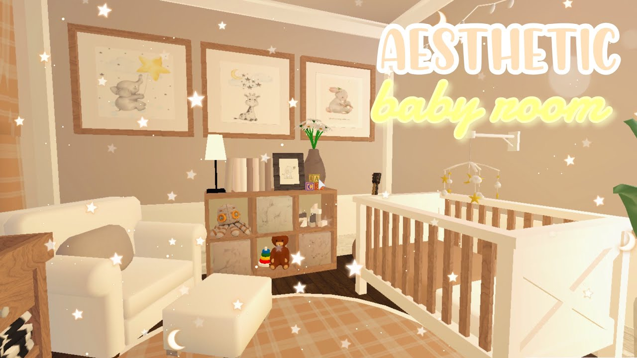 Cute Fall Aesthetic Baby Room Nursery! |Roblox Bloxburg| - YouTube