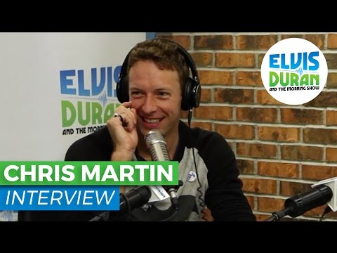 Chris Martin Interview on Stress Relievers, America and Coldplay | Elvis Duran Show