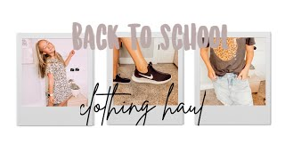 back to school clothing haul! old navy + kohls