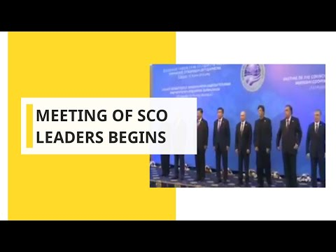 Meeting of SCO leaders begins