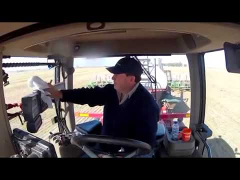 Driving Case Quadtrac Tractor With Auto Steer Gps In A