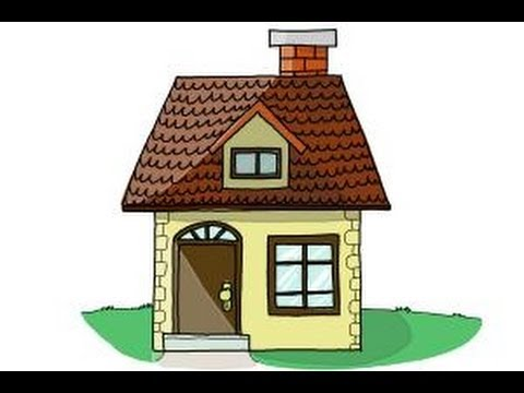 How to draw a house step by step for kids youtube Draw your house