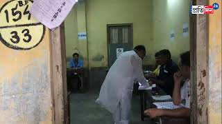 TMC Leader Shovan Chatterjee cast his vote under police protection
