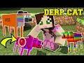 Minecraft: DERP CATS!!! (FART CAT, GRUMPY CAT, SPACE CAT, & MORE!) Mod Showcase
