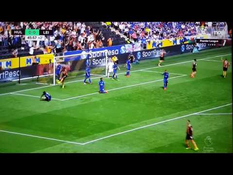 2016英超候城VS李斯特城,足球小將式雙人倒掛入波! (2016 Premier League First Goal, Captain Tsubasa Style!!)