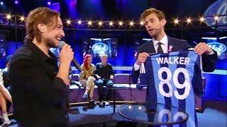 Pär Lernström försöker få Kevin Walker att gå till Djurgårdens fotbollslag - Idol Sverige (TV4)