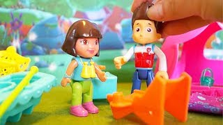 I Paw Patrol e i Super Wings alla ricerca di Dora l'esploratrice [Storia con i Giocattoli]