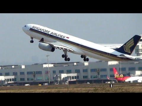 RCTP繁忙的05L北跑道航管 客機起降美技 (2)