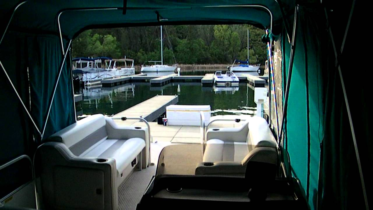 Jim S Pontoon Walk Around With Camper Cover Youtube