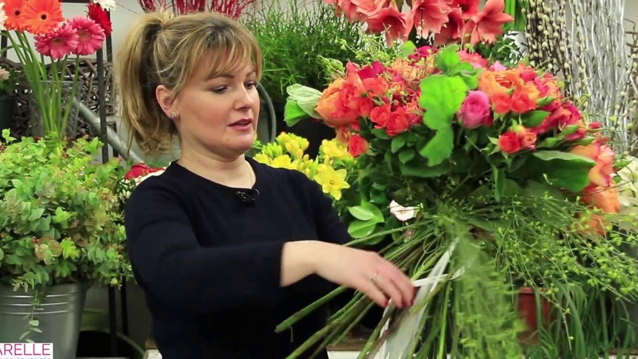 Comment Faire Un Bouquet De Roses tuto - composer un bouquet rond de roses