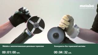 Автоматический тормоз оснастки Metabo.