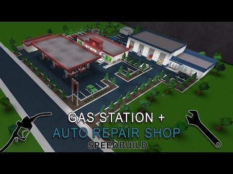 Roblox Bloxburg   Gas Station + Auto Repair Shop Speedbuild