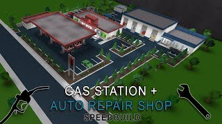 Roblox Bloxburg | Gas Station + Auto Repair Shop Speedbuild