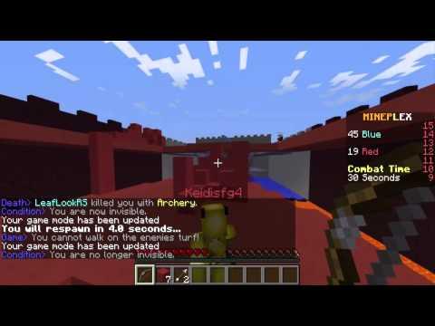 Minecraft Mini Games - Turf Wars - Leaf Gaming, Uykulu Oyuncu, Minecraft Evi BugraaK