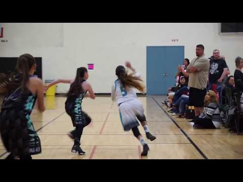 "UNSTOPPABLE guard 13yo Jaelyn ""Stephanie Curry"" Bates Dominates!!"