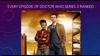 Every Episode Of Doctor Who Series 3 Ranked