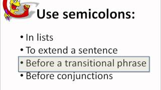 Repeat youtube video Using SEMICOLONS