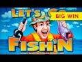 Let's Go Fish'N Slot - BIG WIN BONUS - Short & Sweet!