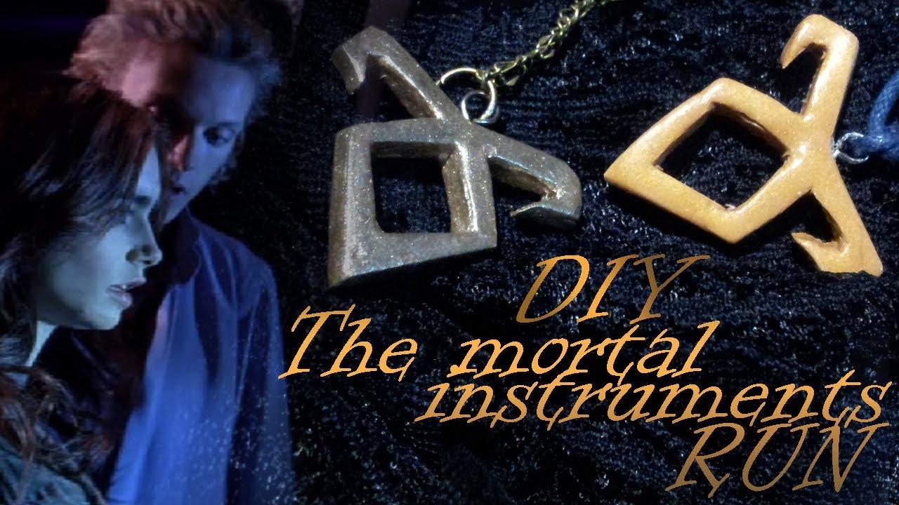 The Mortal Instruments Necklace Runes Diy Youtube