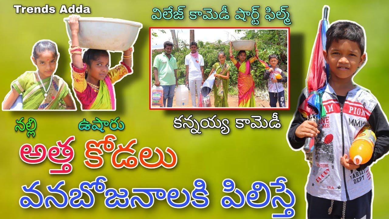 Kannayya ni Vanabojanalaki Piliste | Nalli Attha Usharu kodalu | Kannayya Comedy Videos | Trendsadda