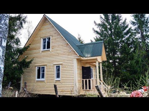 Брусовой дом 6х6м по проекту №79