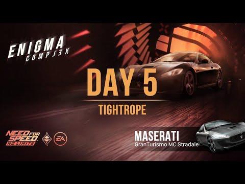 NFS:No Limits | Maserati GranTurismo MC Stradale (Enigma Complex - Day 5 | Tightrope) - SE Guide - NFSTarTon