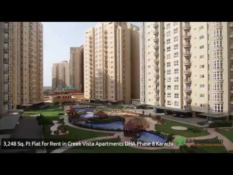 3 BED UN FURNISHED APARTMENT FOR RENT IN CREEK VISTA KARACHI