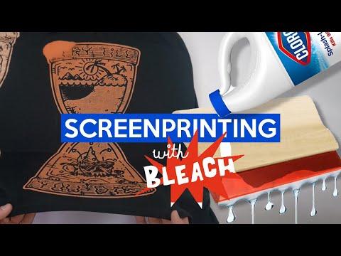DIY Screen Printing with BLEACH! + ASMR