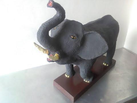 DIY Elephant paper mache-1